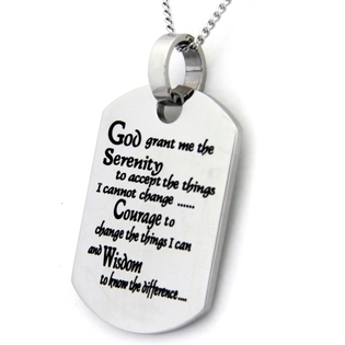 Serenity Prayer Dog Tag | AA Jewelry | AA Gifts | AA Jewelry Gifts Engraved