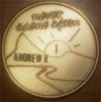 Never Alone Again Medallion Engraved