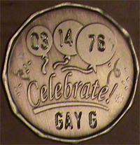 Celebrate Recovery Medallion Engraved $7.25
