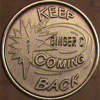Keep Coming Back Medallion Engraved $5.75