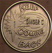 Keep Coming Back Medallion Engraved $5.75