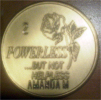 Powerless But Not Helpless Medallion Engraved $5.75