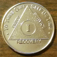Silver Plated AA Medallion