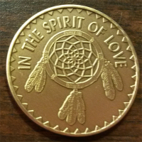 In the Spirit of Love with Great Spirit Prayer on the back.