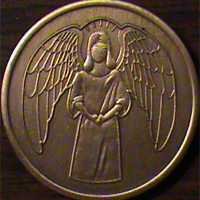 Angel with Halo Medallion | He Will Command His Angels To Guard You In All Of Your Ways