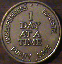 1 Day At A Time - Unselfishness Honesty Purity Love Medallion
