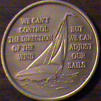 Sailboat I Am Powerless But Not Helpless Medallion | We can't control the direction of the wind but we can adjust our sails