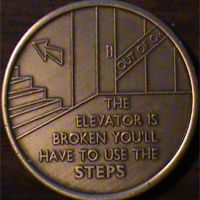 The Elevator Is Broken You'll Have To Use The Steps Medallion | Don't work my program, Don't work your program, Work The Program