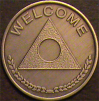Al-Anon Medallion - Welcome Engraved $5.75