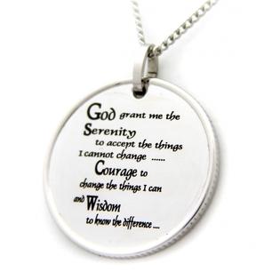 coin pendant serenity prayer