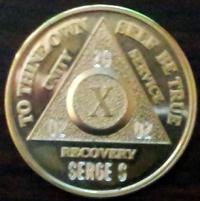 Gold AA Medallions