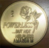 Powerless But Not Helpless Medallion Engraved $6.15