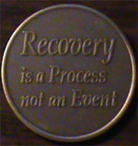 Recovery Is Not A Process Medallion Personal growth is not a journey of thousand days of a journey of a lifetime it is a journey of one day at a time