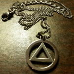 AA Necklace Pendant | AA Symbol Necklace