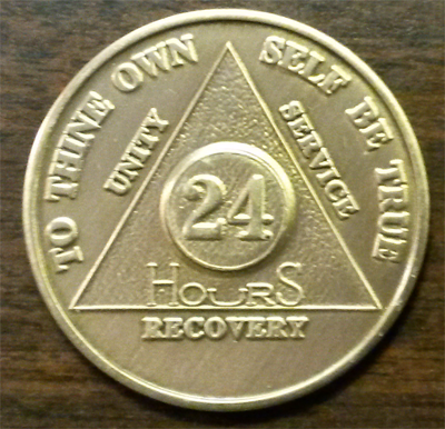 24 Hours AA Medallion