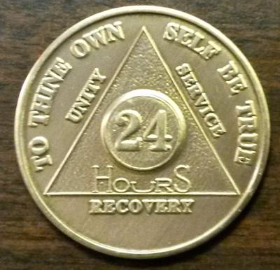 24 Hours AA Medallion