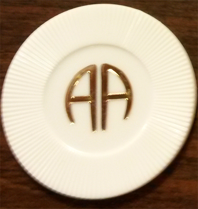 AA White Chip | AA White Poker Chips