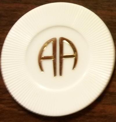 AA White Chip | AA White Poker Chips