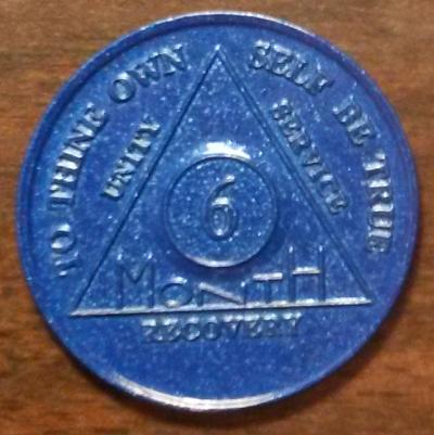 6 Month Aluminum Chip,6 Month AA Chip,6 Month aa Aluminum Chip, 180 days Aluminum AA Chip