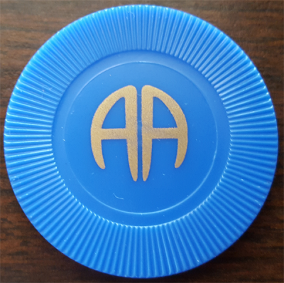 Blue Poker Chip | AA Blue Plastic Chip