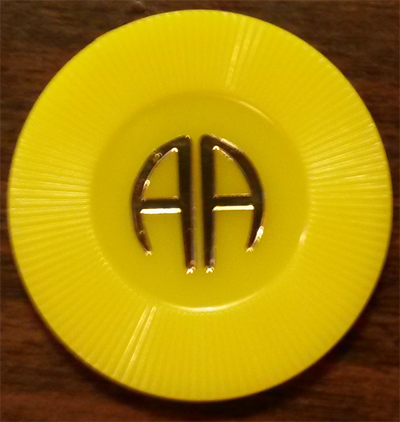 Yellow Poker Chip | AA Yellow Chip