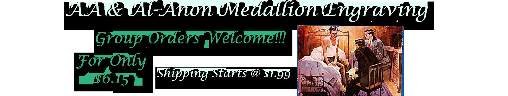 AA Medallions | Al Anon Medallions