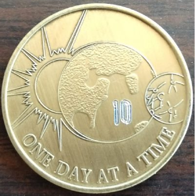 Earth and Sun One Day At A Time Medallion
